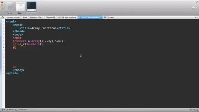 106- چند عملکرد آرایه ها در پی اچ پی PHP