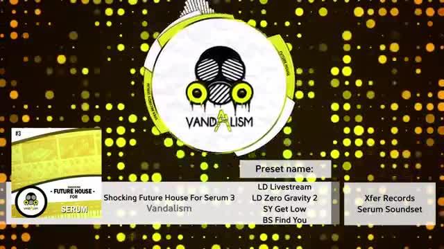 دانلود پریست Serum فیوچر هاوس Vandalism Shocking Future House 3