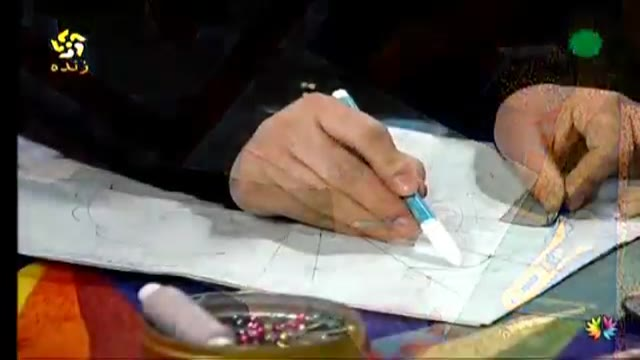 آموزش طرح بشقاب در چهل تکه دوزی (خانم قادری)