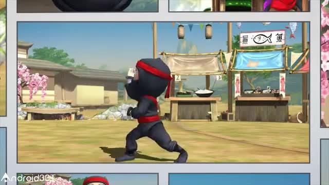 بازی جالب نینجای بی عرضه برای اندروید Clumsy Ninja