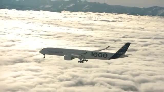 اولین پرواز جدیدترین هواپیمای ایرباس | A350-1000