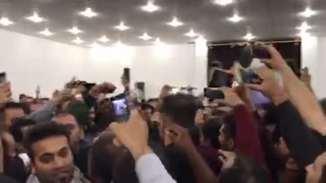 احمدی احمدی حمایتت می کنیم / احمدی احمدی خدا نگهدار تو/ استقبال پرشور بوشهر7دی96