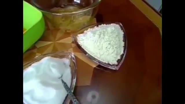 کیک اسفنجی - آشپزی از اینجا تا آنجا با عذرا