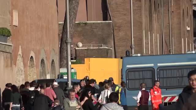 تدابیر شدید امنیتی در رم در استانه سفر ترامپ