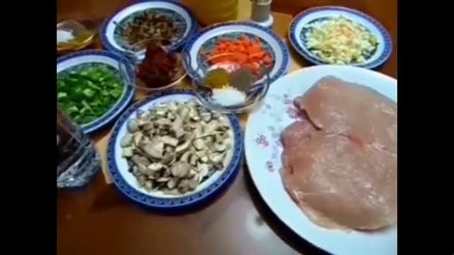 رولت مرغ و سبزیجات - آشپزی از اینجا تا آنجا با عذرا