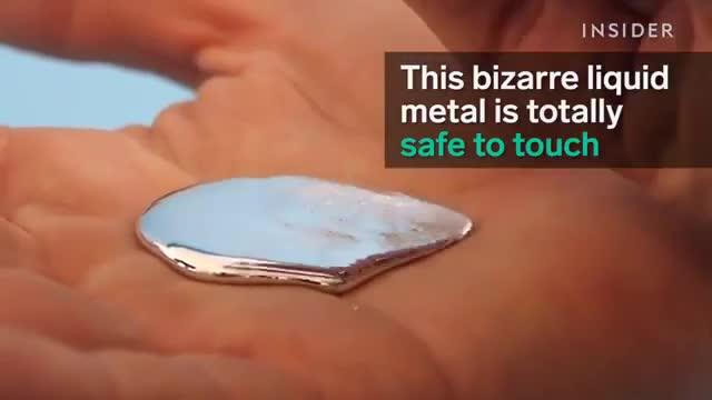 این فلز مایع کاملا قابل لمس کردنه، گالیوم در 30 درجه سانتیگراد به حالت مایع در میآید