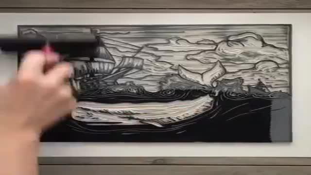 مهر زدن. شابلون. طرح و نقاشی حرفه ای