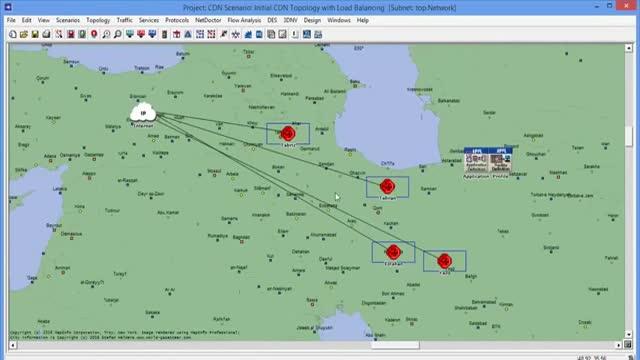 فیلم پروژه شبیه سازی شبکه CDN با نرم افزار OPNET