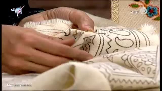 آموزش ساقه دوزی در هنر پته دوزی(خانم سیدی)