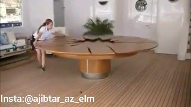 یک ایده جالب برای ساخت میز با قابلیت بزرگ و کوچک شدن