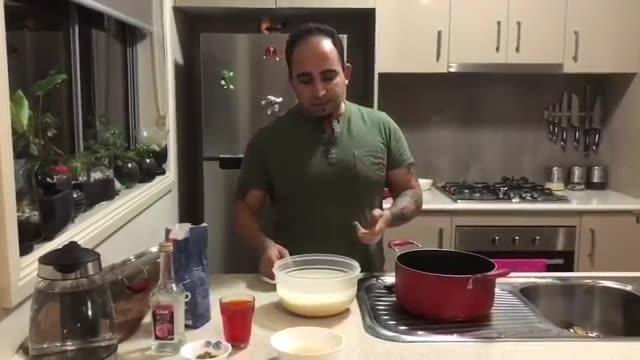 Saffron rice pudding(Persian cooking course)اموزش درست کردن شله زرد          جواد جوادی