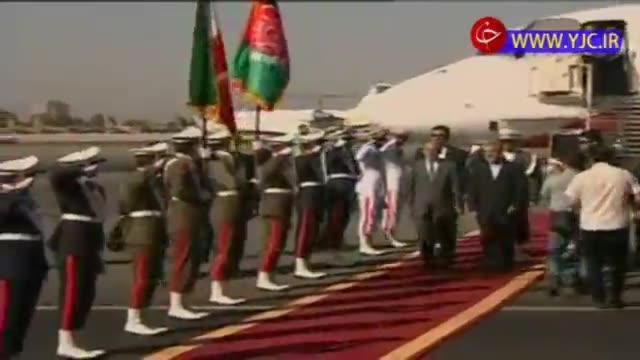 لحظه ورود رییس جمهور افغانستان به تهران جهت شرکت در مراسم تحلیف