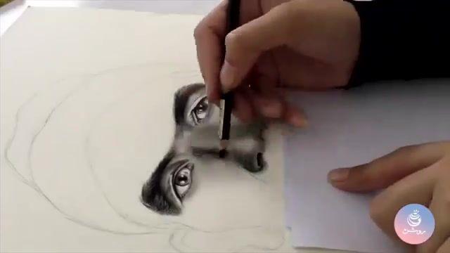 نقاشی چهره با تکنیک سیاه قلم - گروه طراحی روشن