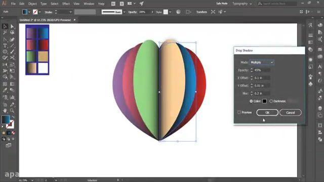 آموزش طراحی لوگو در ایلوستریتور ( طرح اول)
