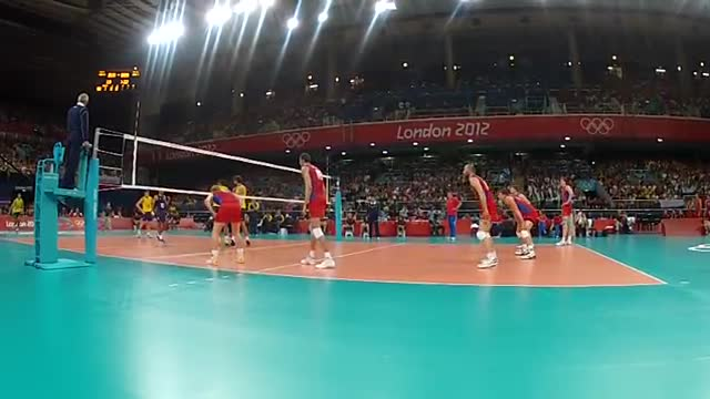 ویدیوی فنی - فینال المپیک 2012 (برزیل - روسیه) - رالی 8