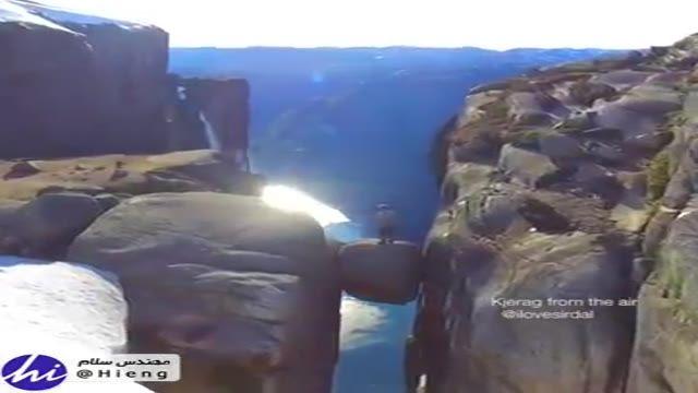 نمایی دیدنی از آبشار زیبا در نروژ با ارتفاع 715 متر ...