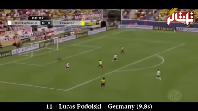 تماشاگر //   ویدیو// سریعترین گلهای تاریخ فوتبال