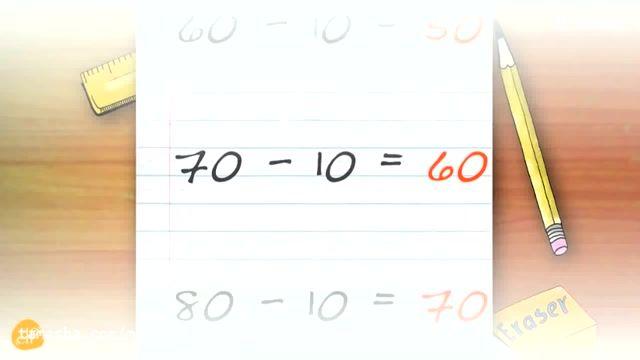 ترفندی جدید برای آموزش ریاضی به زبان انگلیسی برای بچه ها
