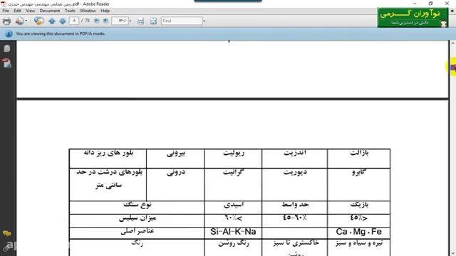 دانلود جزوه زمین شناسی به صورت فایل PDF