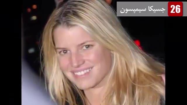 چهره واقعی و بدون آرایش مشهورترین زنان جهان _ 10 تا از