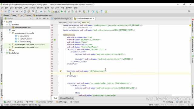 04 - ارسال پوش نوتیفیکیشن با استفاده از پوشه - پوش نوتیفیکیشن پیشرفته (ارسال داده JSON)