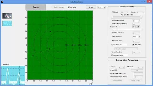 پروژه شبیه سازی رادار RADAR با نرم افزار MATLAB