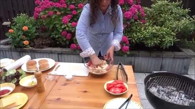 همبرگر کبابی