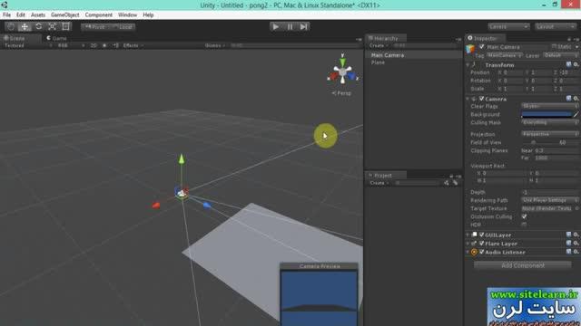 اموزش طراحی بازی pong با موتور یونیتی (1)