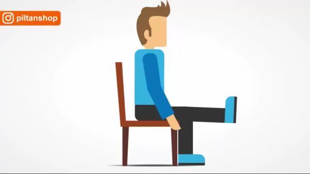 موشن گرافیک تقویت عضلات زانو با استفاده از صندلی