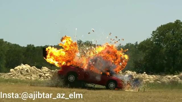 انفجار ماشین به صورت اسلوموشن