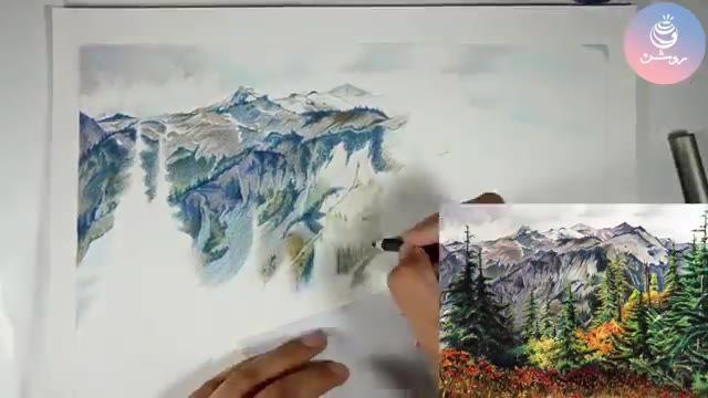 نقاشی مداد رنگی طبیعت (بخشی از دوره مداد رنگی1)