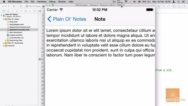 11- سنجاق کردن در Xcode اکس کد
