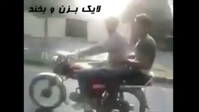 اشکنان دوربین تصادف خطرناک با موتور