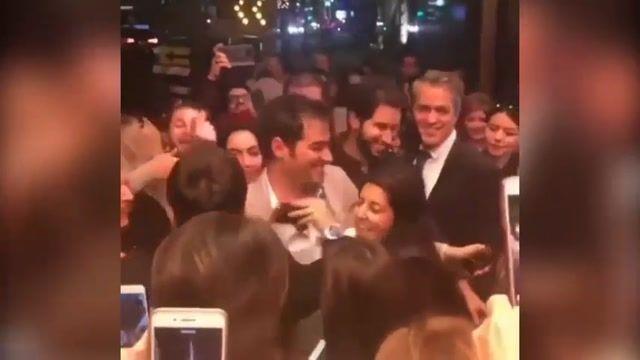 طرفداران شهاب حسینی در کالیفرنیا مشتاقانه به استقبالش رفتند