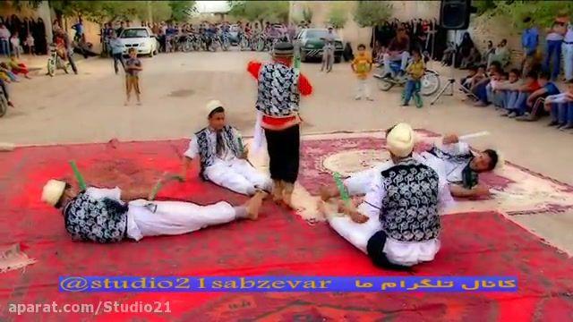 گروه رقص سنتی کویر خراسان بزرگ . رقص چوب بازی