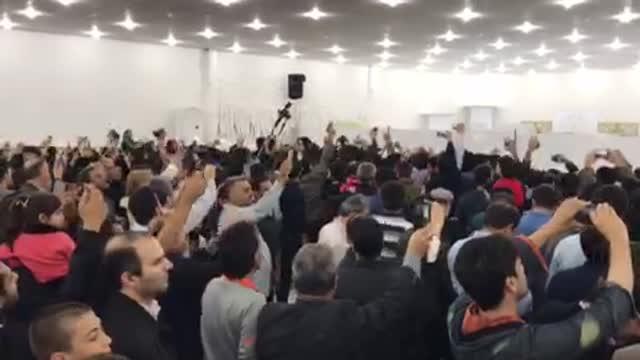 دکتر !دوستت داریم/ صل علی محمدبوی رجایی آمد/ استقبال پرشور بوشهر از احمدی نژاد
