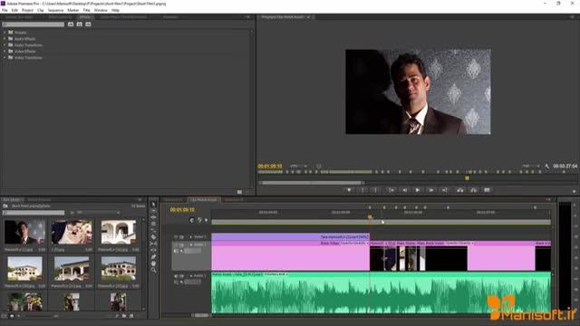 اموزش تولید شورت فیلم در اموزش پریمیرپرو به فارسی با مانی سافت
