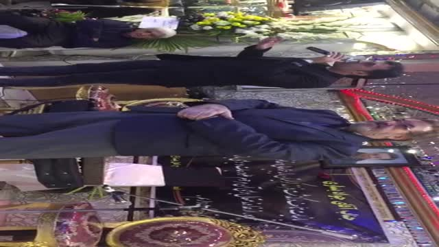 اجرای حمید مهدوی در چهلم فرزند جواد یساری در مقابل احمد نجفی ایرانمنش عباس قادری