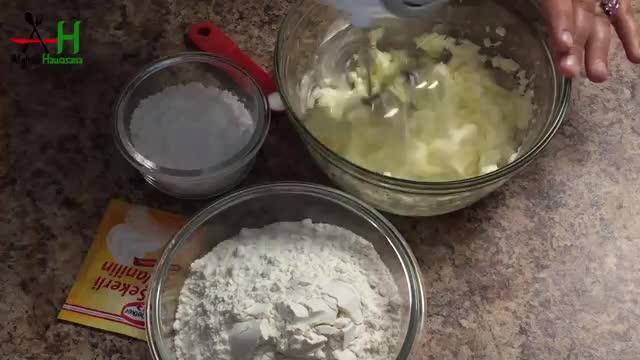 How to make Vanilla and white chocolate Shortbread Cookies طرز و تهیه کلچه