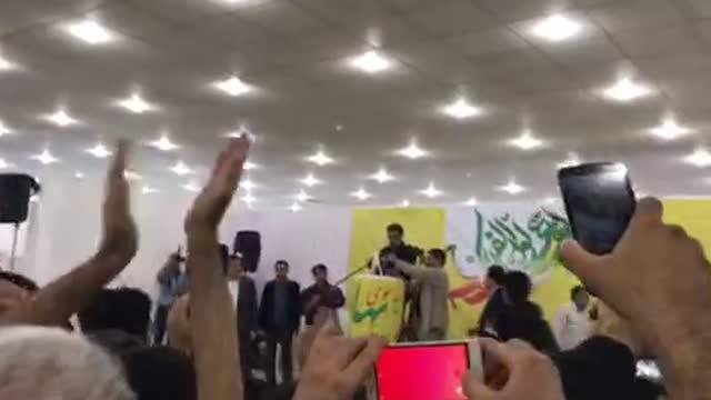 مردم بوشهر خطاب به دکتر احمدی نژاد 96/10/7 احمدی دوستت داریم ، احمدی دوستت داریم