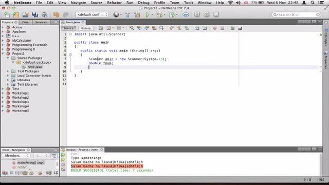 7- یک حسابگر ساده در جاوا Java