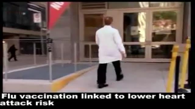 Flu vaccination linked to lower heart attack risk .اواکسن آنفلوانزا با کاهش حملات قلبی ارتباط داردار