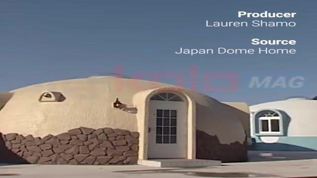 خانههای ضدزلزله و بلایای طبیعی گنبدیشکل ژاپنی + زیرنویس