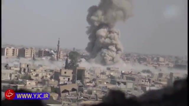 انفجار خودروهای زرهی انتحاری داعش علیه گروه های کرد
