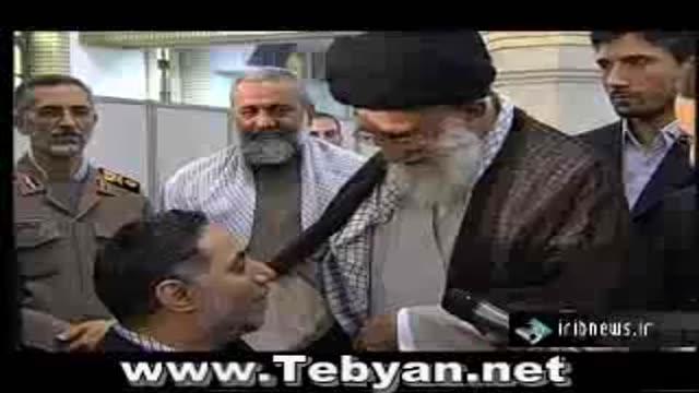 دیدار رهبر انقلاب اسلامی با جانبازان قطع نخاعی