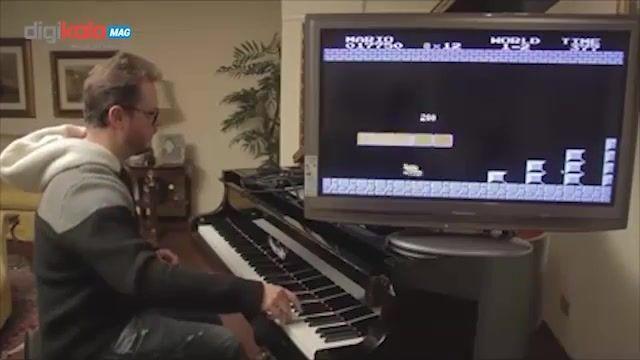 اجرای موسیقی متن بازی Super Mario با پیانو