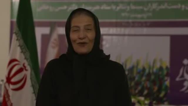 حمایت احترام برومند از حسن روحانی در انتخابات ریاست جمهوری ایران 96 Ehteram Boroumand Hassan Rouhani