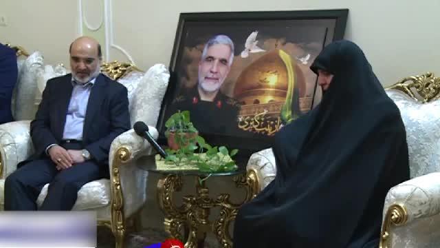 دیدار رییس رسانه ملی با خانواده شهید اسکندری از شهدای مدافع حرم