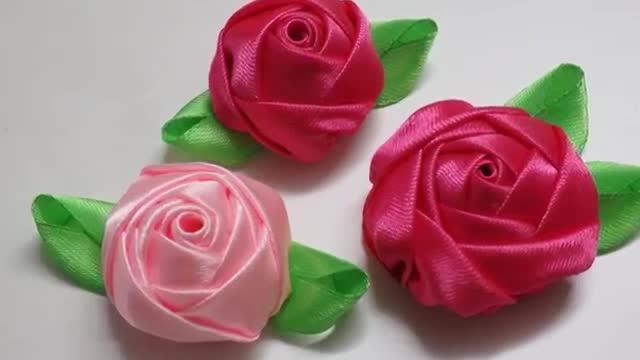 مجموعه گل من 2014 DIY Ribbon and fabrics flowers I Kanzashi
