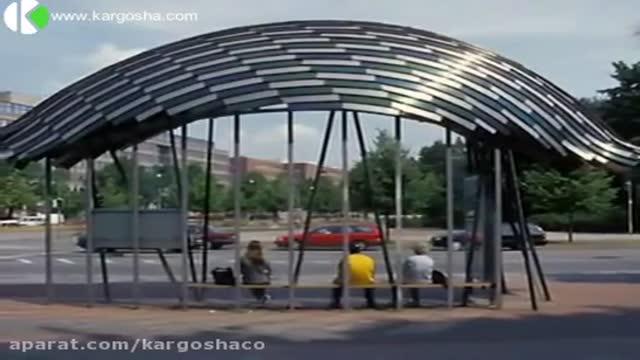 ایستگاه اتوبوس عمومی در هانوفر آلمان